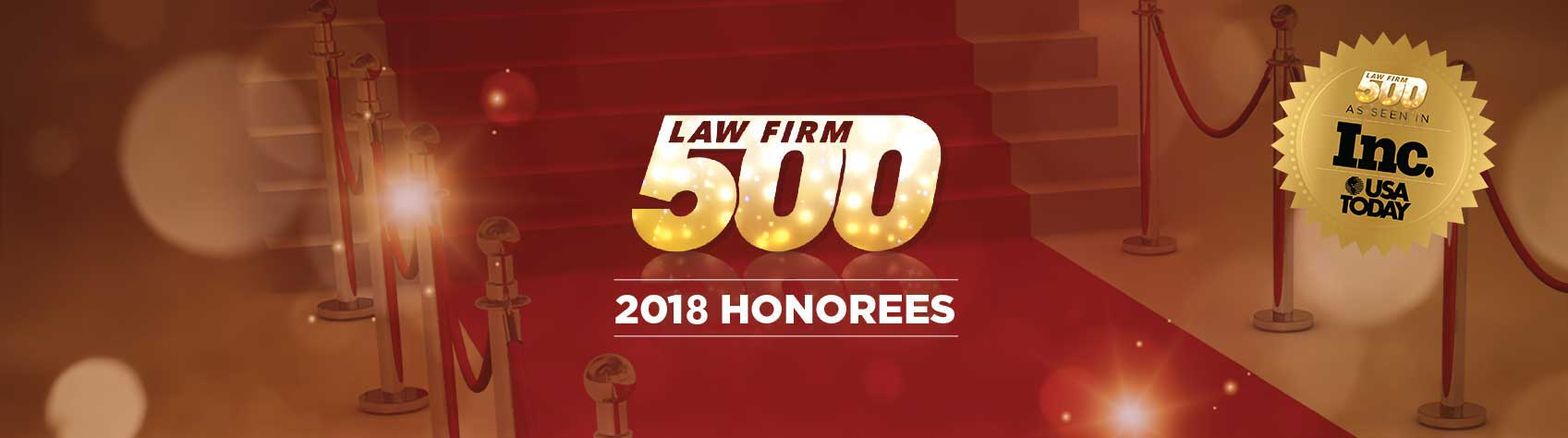 2018 Award Honorees - Law Firm 500